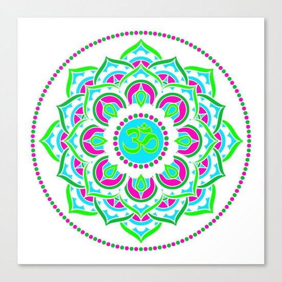 Spring Mandala   Flower Mandhala Canvas Print