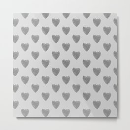 Silver heart Metal Print