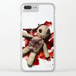 Bloody sack doll Clear iPhone Case