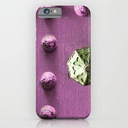 Door Knob #6 on Painted Wooden Door iPhone Case