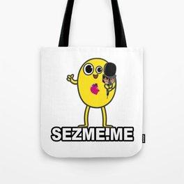 Sez Me's cartoon anchor, Hello Mellow Tote Bag