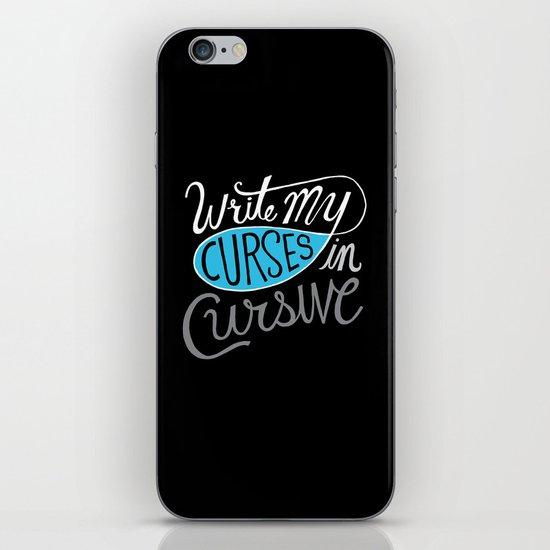 Curses in Cursive iPhone & iPod Skin