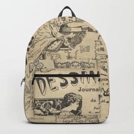 Vintage Art Nouveau collage Backpack