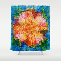 quibe Shower Curtains featuring Flower III by Magdalena Hristova