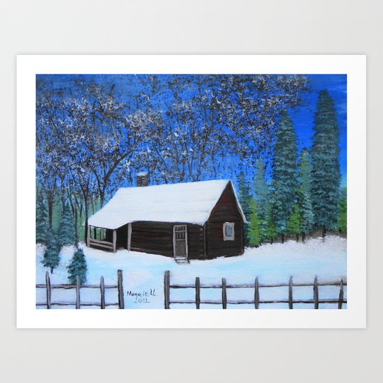 Covered with snow  Art Print