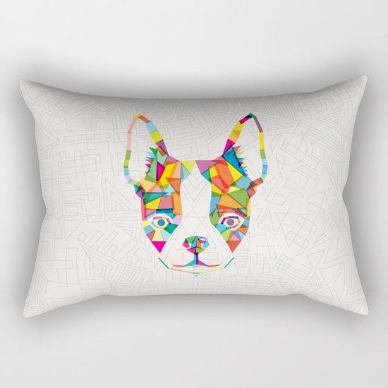 Rainbow Bulldog Rectangular Pillow
