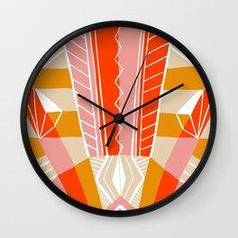 salida, woven rug pattern Wall Clock