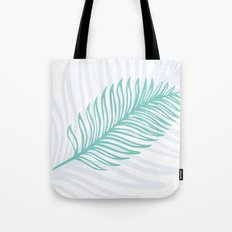 Palm Leaf in Blue and Green Tote Bag