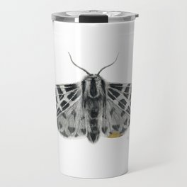 Kintsugi - A Graphite Drawing of a Moth by Brooke Figer Travel Mug