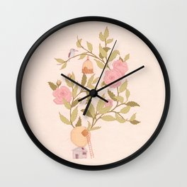 RoseBird Wall Clock