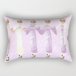 Carousel Maiden Design Sheet Rectangular Pillow