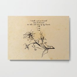 Sylvia Plath - I am Metal Print
