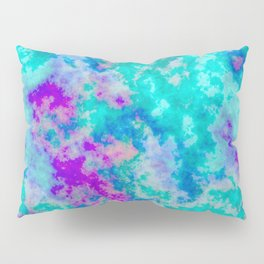 Turquoise and purple cloud art Pillow Sham