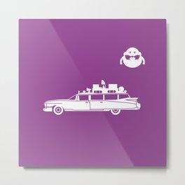 Ecto-1 Ghostbusters car Metal Print