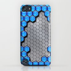 Blue Metallic Scale iPod touch Slim Case