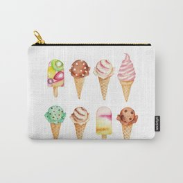 Cool Sweets / Watercolor Ice Cream Carry-All Pouch