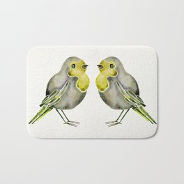 Little Yellow Birds Bath Mat