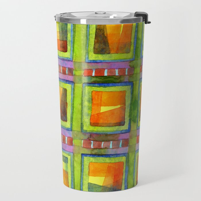 Light behind colorful geometric Windows Travel Mug