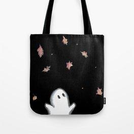 Ghost in falling leaves Tote Bag