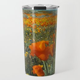 California Wildflower Poppy Superbloom Travel Mug