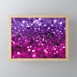 Pink Purple Lady Glitter #1 #shiny #decor #art #society6 Framed Mini Art Print