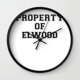 Property of ELWOOD Wall Clock