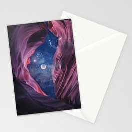 Grand Canyon with Space Collage Stationery Cards