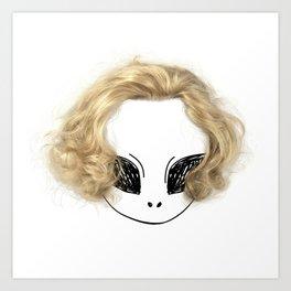 Blondes have more fun Art Print