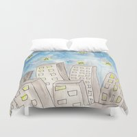 starry night Duvet Covers featuring Starry night by Susan