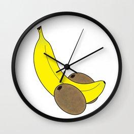 Banana And Kiwis Wall Clock
