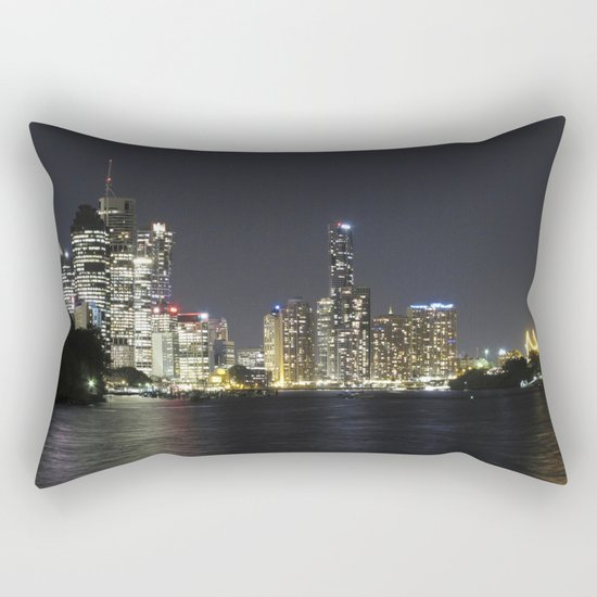 Brisbane by night Rectangular Pillow