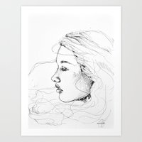 sketch Art Prints featuring sketch by Tricia Kibler