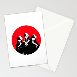 Japanese Metal Girls Stationery Cards