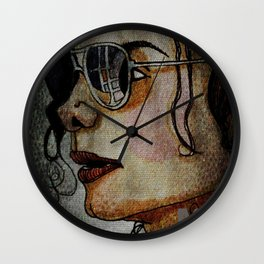 MJ In Profile Wall Clock