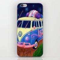 hippie iPhone & iPod Skins featuring Hippie Van by whiterabbitart