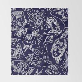 Traditional tattoo blue print Decke