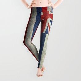 The State flag of Hawaii - Vintage version Leggings