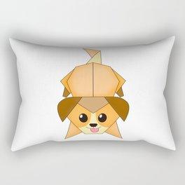 Chibi Origami puppy Rectangular Pillow