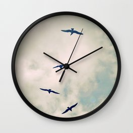 Bird Dance. Wall Clock