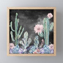 Desert Nights Gemstone Oasis Night Sky Framed Mini Art Print