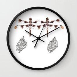 Twin Dragonfly Wall Clock