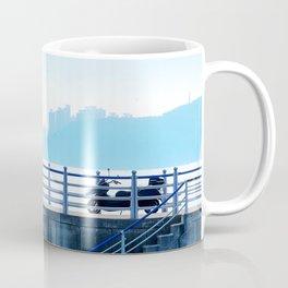 Faded blue landscape Coffee Mug