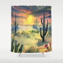 Desert Twilight Shower Curtain