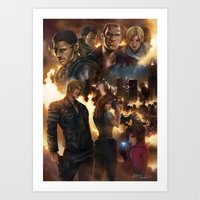 resident evil Art Prints featuring Resident Evil 6 by Dr-Salvador