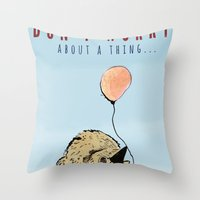 birthday Throw Pillows featuring Birthday by Emily Stalley