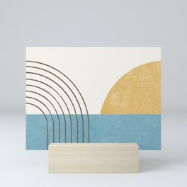 Sunny Ocean Horizon Mini Art Print