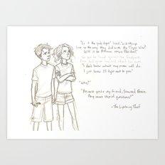 Wise Girl and Seaweed Brain Art Print