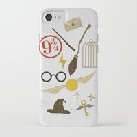 potter iPhone & iPod Cases featuring Minimalist Potter by Luis Urrutia
