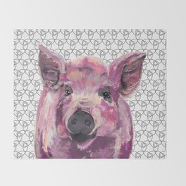 Precious Pig Throw Blanket