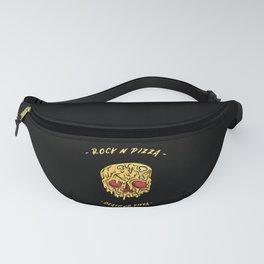 Rock n pizza, pizza skull Fanny Pack